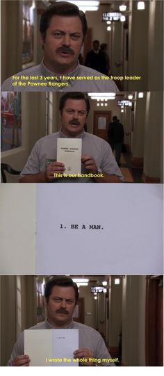 He knows how to be a man: | 28 Reasons Why Nick Offerman Is The Greatest Man Who Has Ever Lived