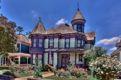 Victorian Houses in California | House at 1320 Carroll Ave., Angelino Heights, Victorian, residences ...