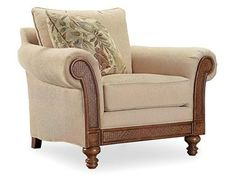 Hooker Furniture Living Room Windward Dart Honey Chair