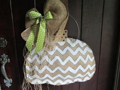 Natural Burlap Pumpkin Door Hanger