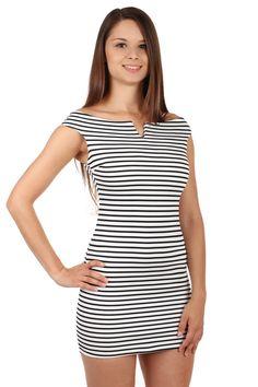 d3df81d700fe Krátké dámské námořnické šaty s proužky