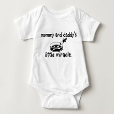 Baby & Toddler Clothing, Toddler Outfits, Ivf Cycle, Miracle Baby, Daddys Little, Baby Bodysuit, Infant, Unisex, Shirts