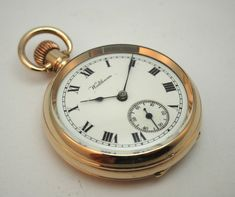 ANTIQUE c1908 LADY WALTHAM OPEN FACE POCKET WATCH, 14K GOLD /F DENNISON CASE