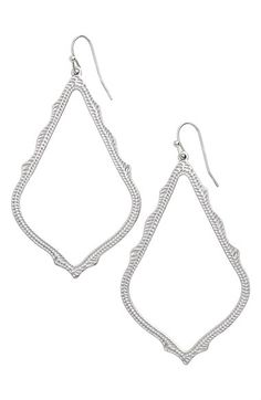 Kendra Scott 'Sophee' Textured Drop Earrings available at #Nordstrom