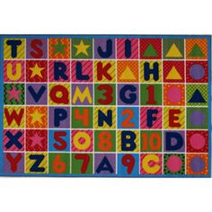 Fun+Rugs+Numbers+and+Letters+Kids'+Rug
