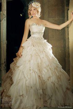Zuhair Murad Wedding Dress  Am I weird? I like this dress a lot!!