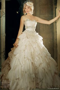 Zuhair Murad Wedding Dress  Am I weird? I like this dress a lot!!