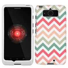 Amazon.com: Motorola Droid Mini Chevron Peach Pink Green Red Pattern Phone Case: Cell Phones & Accessories
