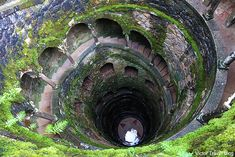 Initiation Well in the garden of Quinta da Regaleira. Sintra, Portugal.