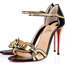 Christian Louboutin United States Official Online Boutique - Valparaiso 100 Gold/Black Specchio/Laminato available online. Discover more Women Shoes by Christian Louboutin Women's Shoes, Black Shoes, Dance Shoes, Vans Old Skool, Fashion Heels, Fashion Boots, Bootie Boots, Shoe Boots, Louboutin Online
