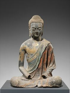 Buddha, Probably Amitabha  Period: Tang dynasty (618–907) Date: early 7th century Culture: China Medium: Hollow dry lacquer with traces of gilt and polychrome pigments