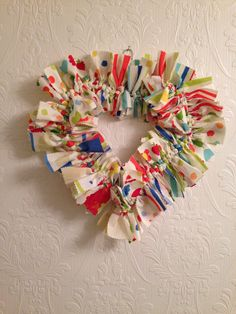 Wrag wreath Handmade by www.facebook.co.uk/artyfartycraftsanddesigns  £15.00
