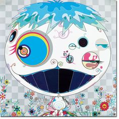 "Takashi Murakami - 'Jellyfish', 2004 19.6"" X 19.6"" Color Offset Lithograph on wove paper signed and dated in black lower right  from the edition of 300  published by Kaikai Kiki Co., Ltd., Tokyo  © Kaikai Kiki Co., Ltd. All Rights Reserved."