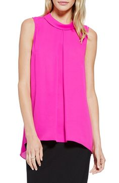 Vince Camuto Mock Neck Sleeveless Blouse available at #Nordstrom