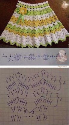 A La Moda Azhur Vestidosparabebédeganchillo - Butchart Gardens - Diy Crafts - DIY & Crafts Crochet Shawl Diagram, Crochet Skirt Pattern, Crochet Skirts, Crochet Clothes, Diy Crafts Crochet, Crochet Yarn, Crochet Stitches, Crochet Baby Cardigan, Crochet Baby Boots
