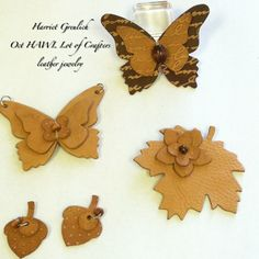 Leather pendant, earrings, pins, jewelry, fashion STAMPIN UP, Big Shot, Bigz Dies. See supply list at www.theserialstamper.com