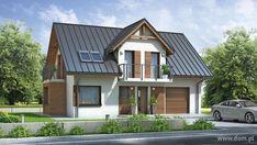 DOM.PL™ - Projekt domu Mój Dom Renata CE - DOM BM1-10 - gotowy projekt domu Tree Of Life Artwork, Roof Lines, Metal Roof, Simple House, Malm, Home Fashion, Country Living, House Plans, Shed