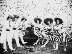 Buff Bill's Circus, The Dixie Girls, c.1910 Classic Portraits of Circus Performers from the Early 1910s
