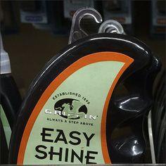 Easy Shine® Asymmetric Teardrop Branding – Fixtures Close Up Shoe Polish, Branding, Packaging, Display, Green, Easy, Accessories, Color, Floor Space