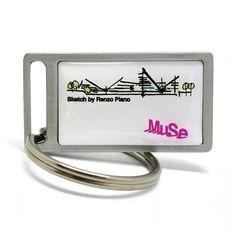 Custom #keychain created for the new #merchandising of Muse dedicated to Renzo Piano