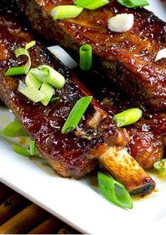 Luau Ribs (Hawaiian-Style Pork Ribs) - The Midnight Baker Rib Recipes, Asian Recipes, Cooking Recipes, Ono Kine Recipes, Cooking Tips, Chicken Recipes, Hawaiian Dishes, Hawaiian Recipes, Hawaiian Ribs Recipe