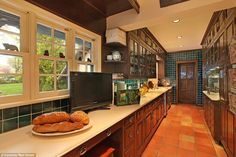 Pantry: There is not shortage of cabinets and counter space at the Gingerbread House...