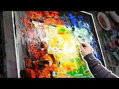 How To paint Palette Knife Painting step by step with acrylic | Echoes | John Beckley - YouTube