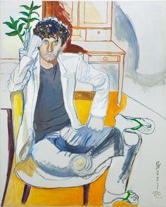 "Michel Auder by Alice Neel, 1980, oil on canvas, 127 x 101,6 cm  (50 x 40"") | Artissima 2015, Back to the Future - Alice Neel | AUREL SCHEIBLER"