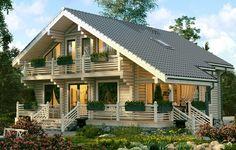 """Строим дома в рассрочку до 10 лет по программе финансирования """"Мой загородный дом"""" Cottage Plan, Cottage Homes, House Plans Mansion, Wood Home Decor, House In The Woods, Log Homes, Modern House Design, Building A House, Interior Decorating"""