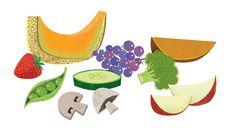 #MichaelRobertson #retro #food #vegetables #veggies #fruit #eatHealthy #vector #illustration #lindgrensmith