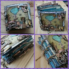 The outside view of my latest handmade journal (by PurpleDreamDesign) Book Journal, Art Journals, Homemade Journal, Altered Book Art, Handmade Books, Recycled Art, Book Binding, Book Making, Journal Inspiration