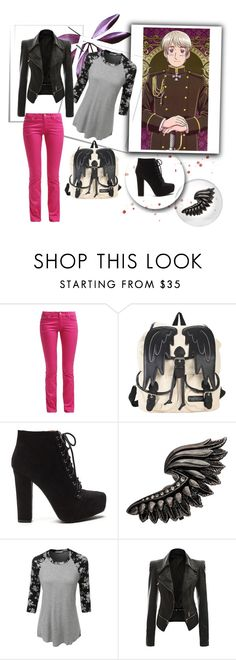 """""""Anya"""" by ashleeramme on Polyvore featuring Roberto Cavalli and LE3NO"""