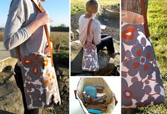 Freestyle shoulder bag pattern and tutorial - http://homeketeers.com/sew-a-bag-tutorials-on-diy-purses-and-bags/