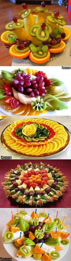 Как красиво подать фруктовую нарезку.