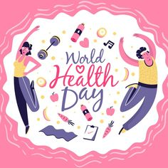 World health day people doing exercises . World Health Day, Do Exercise, Drawing People, Art Images, Hand Lettering, Back To School, Vector Free, How To Draw Hands, Medical Doctor