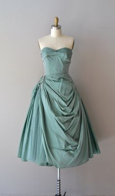 r e s e r v e d...Verdigris dress vintage 40s dress by DearGolden