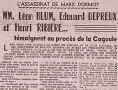 DESTIN D'ACTRICE: ANNE MOURRAILLE, COMÉDIENNE ET COMPLICE DE L'ASSASSINAT DE MARX DORMOY – VU DU BOURBONNAIS… Marx, Front Populaire, Destin, Event Ticket