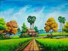 Fire Painting, Art Village, Haitian Art, Thai Art, Portrait Art, Bird Art, Landscape Paintings, Watercolor Art, Graphic Art
