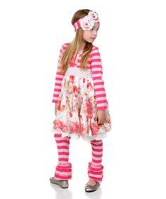 Another great find on #zulily! Pink Floral Dress & Leggings - Kids & Tween #zulilyfinds