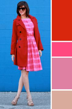 Simplicity 2444, Jessica Quirk, DIY, Self Made, Sewing, What I Wore, What I Wore Today, Outfit of the Day, Fashion Blogger, OOTD, Fashion Blog, Personal Style Blog, How to wear pink and red togethe