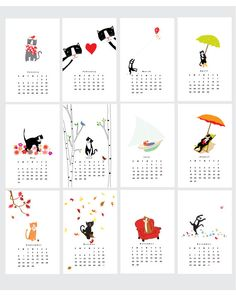 New Cat Calendar 2015 Favorite Cats Wall Calendar por LizzyClara Wall Calender, Table Calendar, Cat Calendar, Calander, Desktop Calendar, Desk Calendars, Creative Calendar, Calendar Design, Calendar 2019 Printable