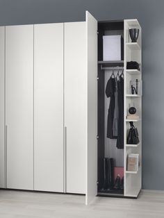 Give your wardrobe a distinct look with accessories composed of structures and doors given by useful and decorative accessories. Guest Bedroom Home Office, Bedroom Built In Wardrobe, Bedroom Closet Design, Master Bedroom Closet, Wardrobe Doors, Wardrobe Door Designs, Closet Designs, Sweet Home Design, Kids Room Furniture