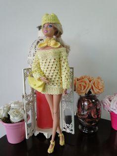 Barbie Crochê Miniaturas e Coisas Mais -               De Tudo Um Pouco e Muito Mais: Roupa de Crochê Para Barbie - Por Pecunia MillioM