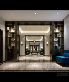 Great looking lobby/foyer. Very cohesive, cohesive is super important from the foyer to the lobby