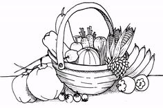 Fruits In Basket Coloring Pages