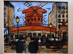 "Check out this beautiful painting from Jean-Claude MAAS representing the very famous ""Moulin Rouge"" in the Pigalle area in Paris."