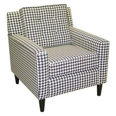 Add fashionable seating in your bedroom, office or living room with this chic Arm Chair in Berne Black from Skyline Furniture. Durable on-trend fabric plus soft foam cushioning will seat family and guests in stylish comfort for years. Made in USA. Living Room Chairs, Living Room Furniture, Lounge Chairs, Dining Room, Casa Stark, Black Armchair, Black Sofa, Cube Chair, Fabric Armchairs