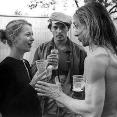 Kate Moss + Johnny Depp + Iggy  Pop - Bob Gruen