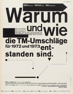 TM SGM RSI, Typografische Monatsblätter, issue 10, 1973. Cover designer: Wolfgang Weingart