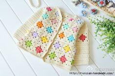 Gilet Crochet, Knitted Baby Cardigan, Crochet Granny, Knit Crochet, Crochet Girls, Crochet Baby Clothes, Crochet For Kids, Free Crochet, Knitting For Kids